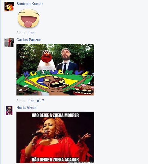 Perfil de fundador do Facebook Mark Zuckerberg sob ataque de Trolls brasileiros