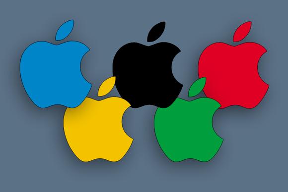 anéis olímpicos maçã