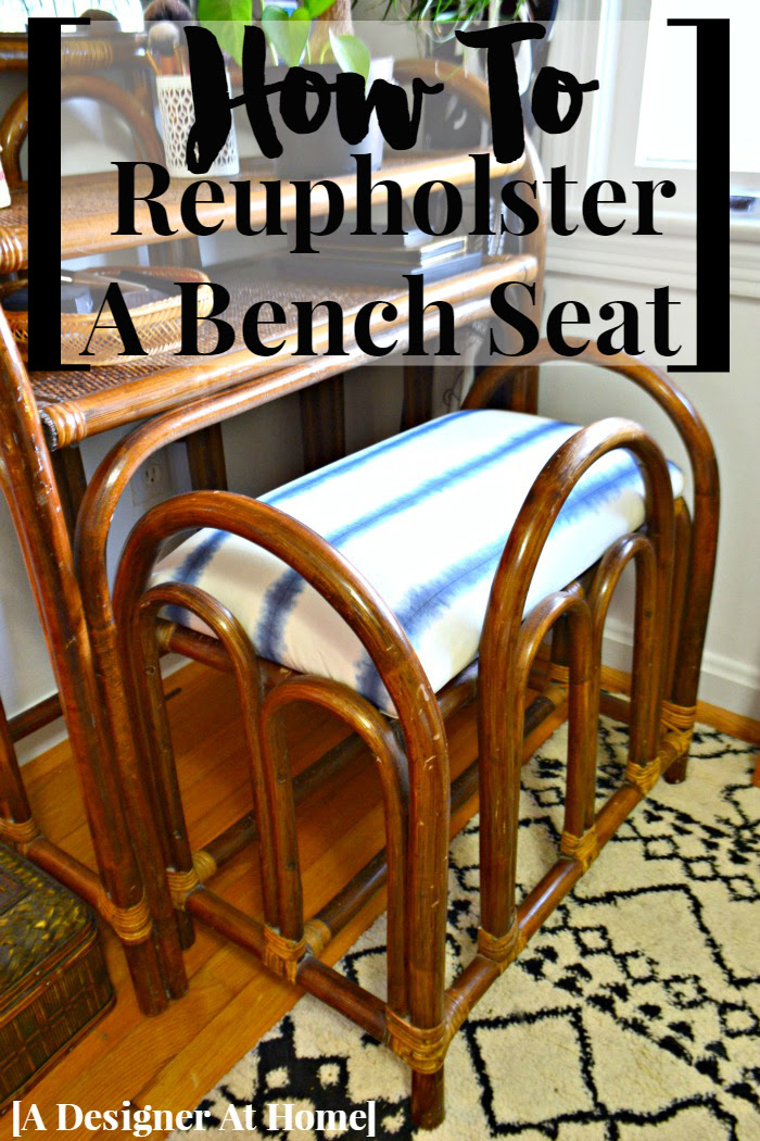 A How To Tutorial With VIDEO for reuphostering a bench seat. I don't know why it took me so long to reupholster something!