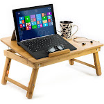 Aleratec Natural Bamboo Cooling Laptop Stand Bed Table Tray