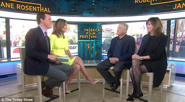 De Niro was joined by fellow Tribecca Film Festival founder and  producer Jane Rosenthal on The Today Show as he discussed his decision to pull the documentary