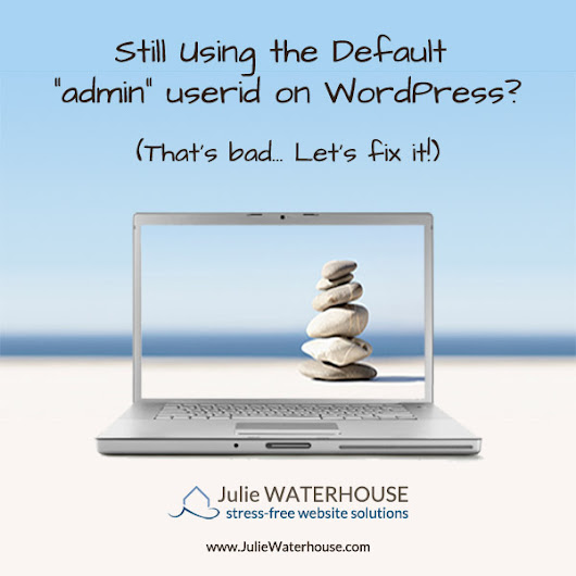 WordPress admin login id: Are you still using the default?