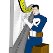 NEW PUNISHER HARP ART: Frank's on Break from the war. - The Punisher Harp Zone