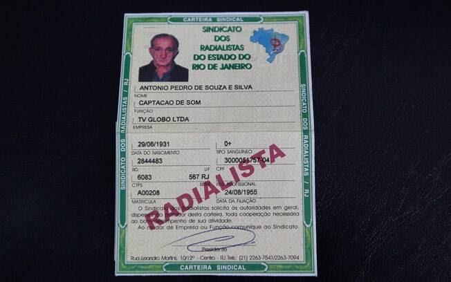 No documento, Russo é Antonio Pedro de Souza e Silva