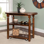 Powell Cromwell Kitchen Cart, Brown