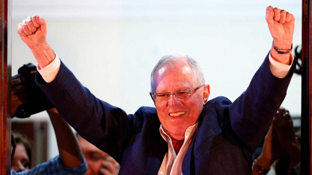 PERU: Kuczynski obtiene ventaja sobre Fujimori con la mitad voto escrutado