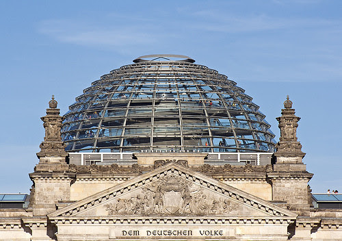 Detail Dome Reichstag, Berlin, Germany