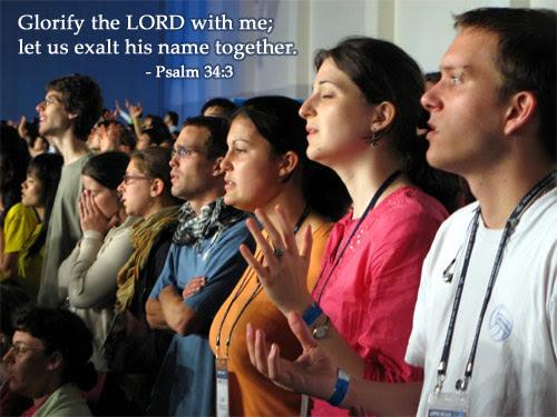 Inspirational illustration of Psalm 34:3
