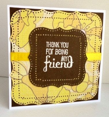Friend Greeting Card Thank You for Being My Friend by stephanieh02,