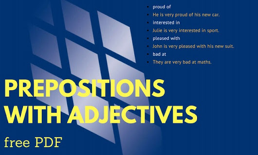 Prepositions with Adjectives (Free PDF) | L.E.T