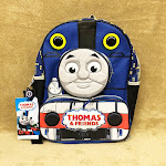 "Mattel Thomas & Friends 14"" Quilted Mini Kids' Backpack - Blue, Kids Unisex, Black"