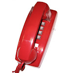 Cortelco 2554 Phone - Red