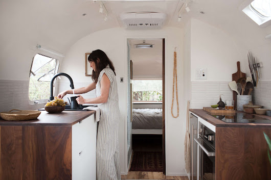 Vintage Airstream Custom-Built for Modern Living on the Go