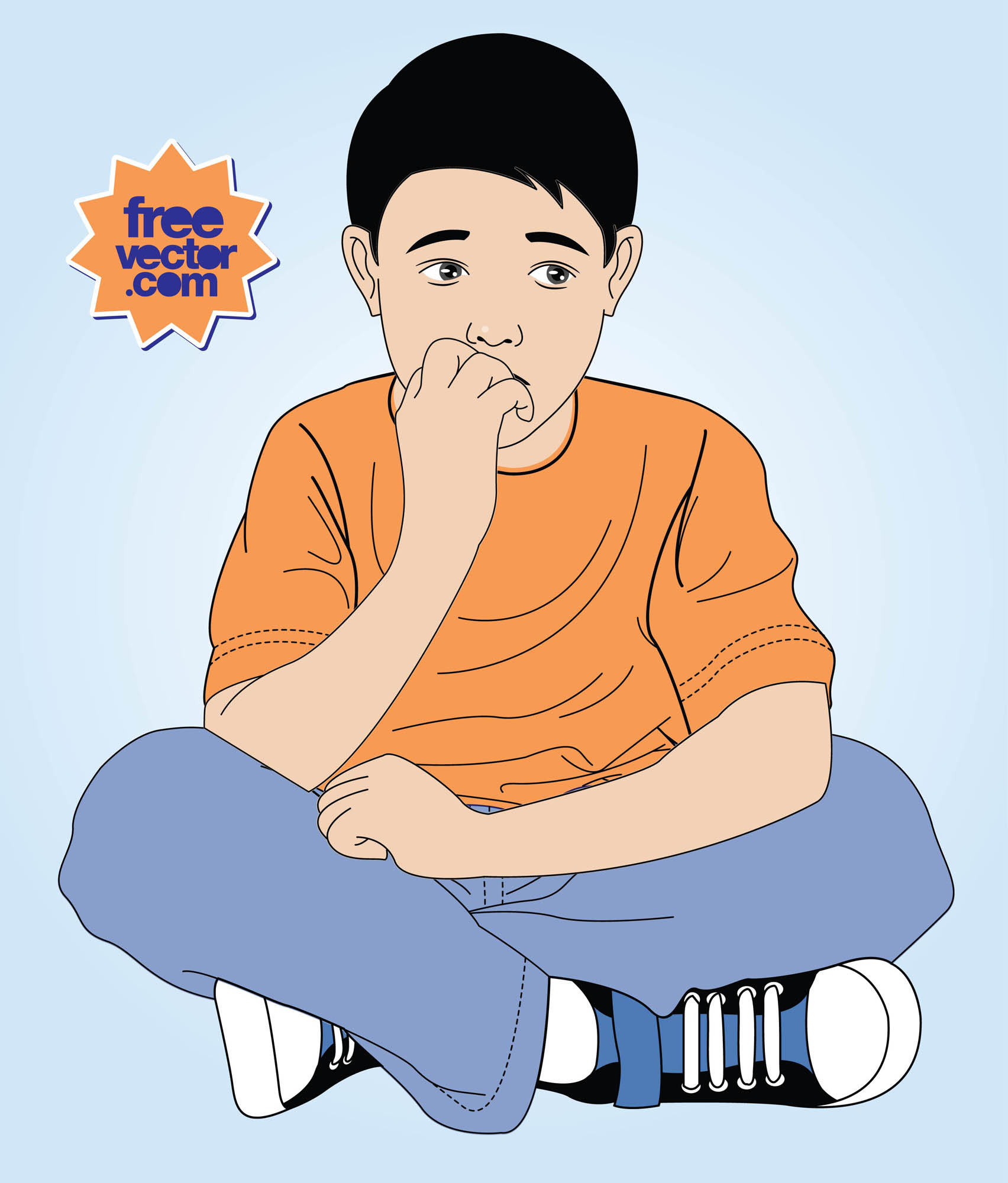 Anxious Kid Vector Art & Graphics | freevector.com