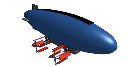 Solar Rechargeable Cyclocopter Blimp