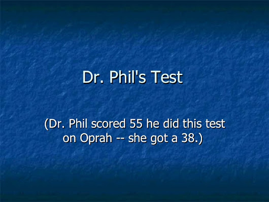 doctor phil test
