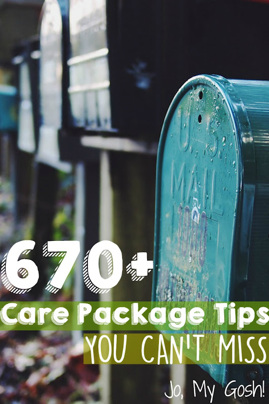 The Ultimate List of Care Package Help - Jo, My Gosh!