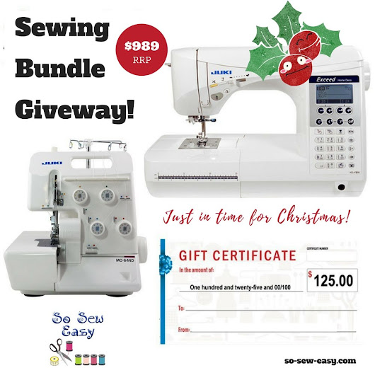 Huge New Juki Giveaway (RRP $989.00): Just in time for Christmas - So Sew Easy