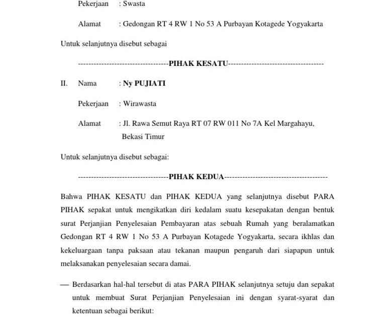 Contoh Surat Pernyataan Pembayaran Uang Kuliah Contoh Surat