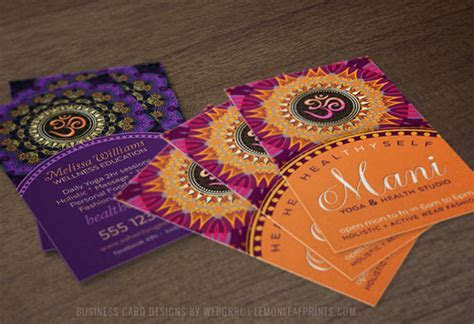 OM ? YOGA ? NEW AGE Business Cards on Behance