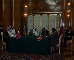 The Ethiopia Qatar BASA signing ceremony in Addis Ababa