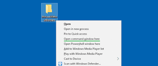 "Get back ""Open command window here"" context menu option in Windows 10 Creators Update » Winhelponline"