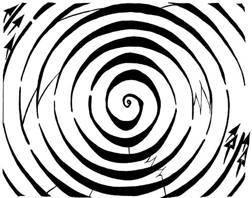 eliptical spiral dopler maze