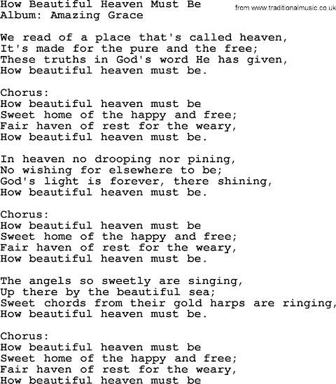 I Ve Heard Of A Place Called Heaven Lyrics