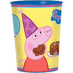 Peppa Pig 16 oz. Plastic Cup - 44034 - Pack of 1 - Blue/Yellow