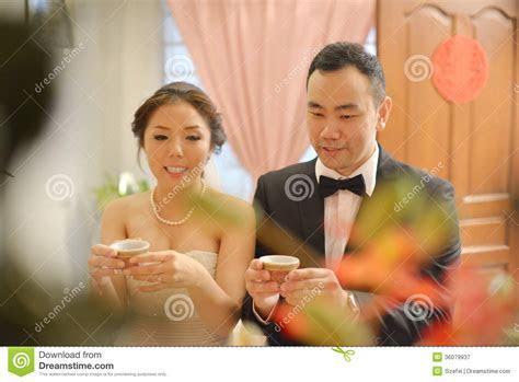Chinese Wedding Tea Ceremony Stock Image   Image of candid