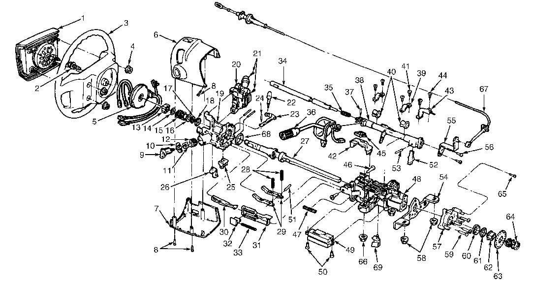Wiring Diagram: 6 Early Bronco Steering Column Diagram
