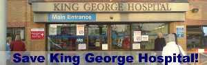 the entrance to King George Hospital