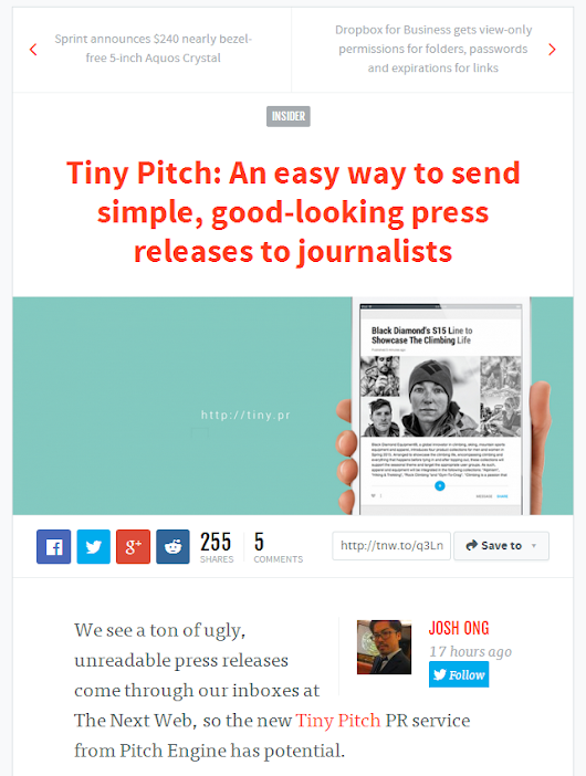 The Next Web Shows Tiny Pitch a *Little Love