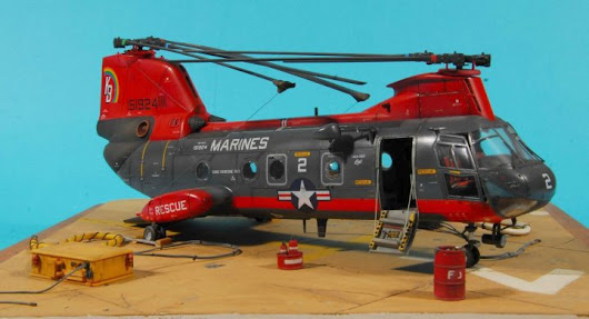 Building the HH-46 D Sea Knight - Academy 1/48 scale