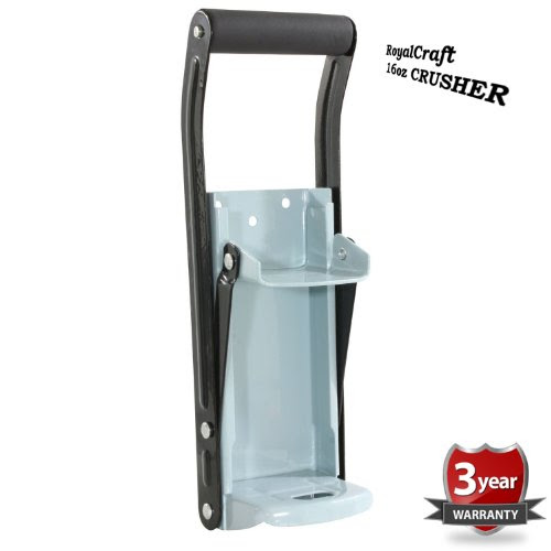 EASY CAN CRUSHER Heavy Duty 16oz Pull Aluminum Soda Beer Recycling |
