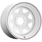 Carlstar GRP K16-2156122 8 Spoke Wheel White