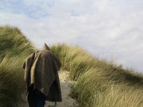 Climbing a steep dune