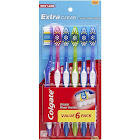 Colgate Extra Clean Toothbrushes, Soft - 6 pack