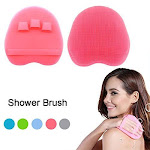 HOMMIESAFE Soft Silicone Shower Brush, Body & Face & Short Hair Wash, Bath Exfoliating Skin