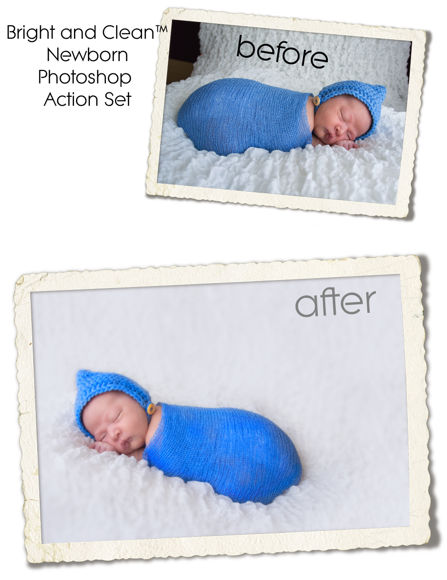newborn photoshop editing action set