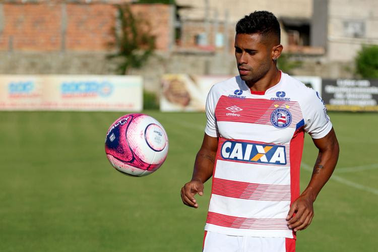 Atacante esteve no time titular durante o treino desta quinta, 25 - Foto: Felipe Oliveira | EC Bahia