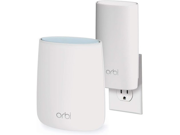 Netgear RBK20W Orbi Compact Wall-Plug Whole Home Mesh WiFi System Router for $155