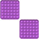 Fidget Pack Pop Pop – 4 pcs Pop Up Fidget Toys for Kids – Stress Relief Fidgets – Anti Stress Squeeze Toys (4 x Orange) (Set: 2 x Purple)