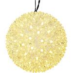 """Vickerman 50Lt x 6"""" LED WmWht Starlight Sphere"""