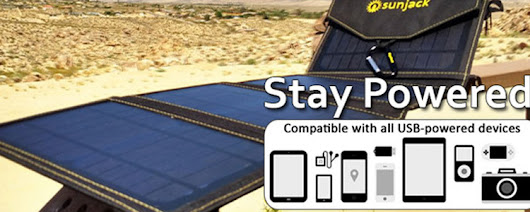 Sunjack Portable Solar Charger | Greg's Green Living
