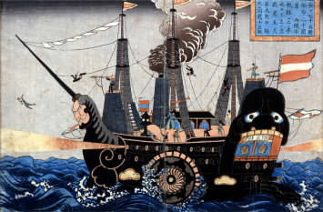 probably one of Perry's ship in Japan
