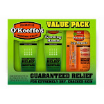 O'keeffe's K0290012 Combo Working Hands Tubes and Lip Repair Value Pack, 3-pack