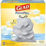 Glad Tall Kitchen Drawstring Trash Bags - OdorShield 13 Gallon Gray Trash Bag - Febreze Fresh Clean - 100ct