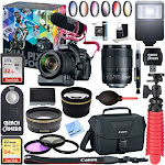 Canon EOS 80D Video Creator with 18-135mm Lens, Rode VideoMic, 64GB Memory Bundle