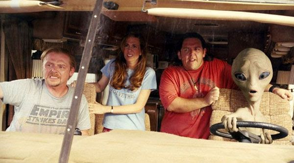 Simon Pegg, Kristen Wiig, Nick Frost and Seth Rogen (as the alien Paul) embark on a cross-country adventure in PAUL.